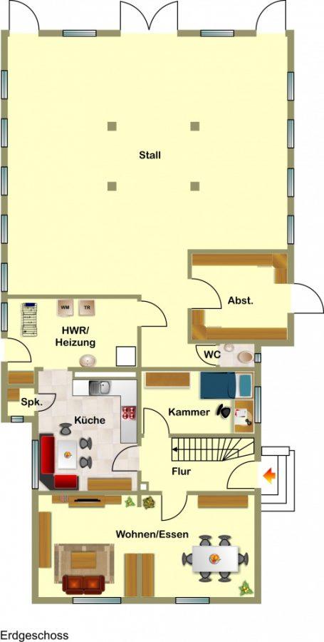 ruhiger vertr umter resthof mit nebengeb uden und angrenzendem gr nland immobilienkontor. Black Bedroom Furniture Sets. Home Design Ideas