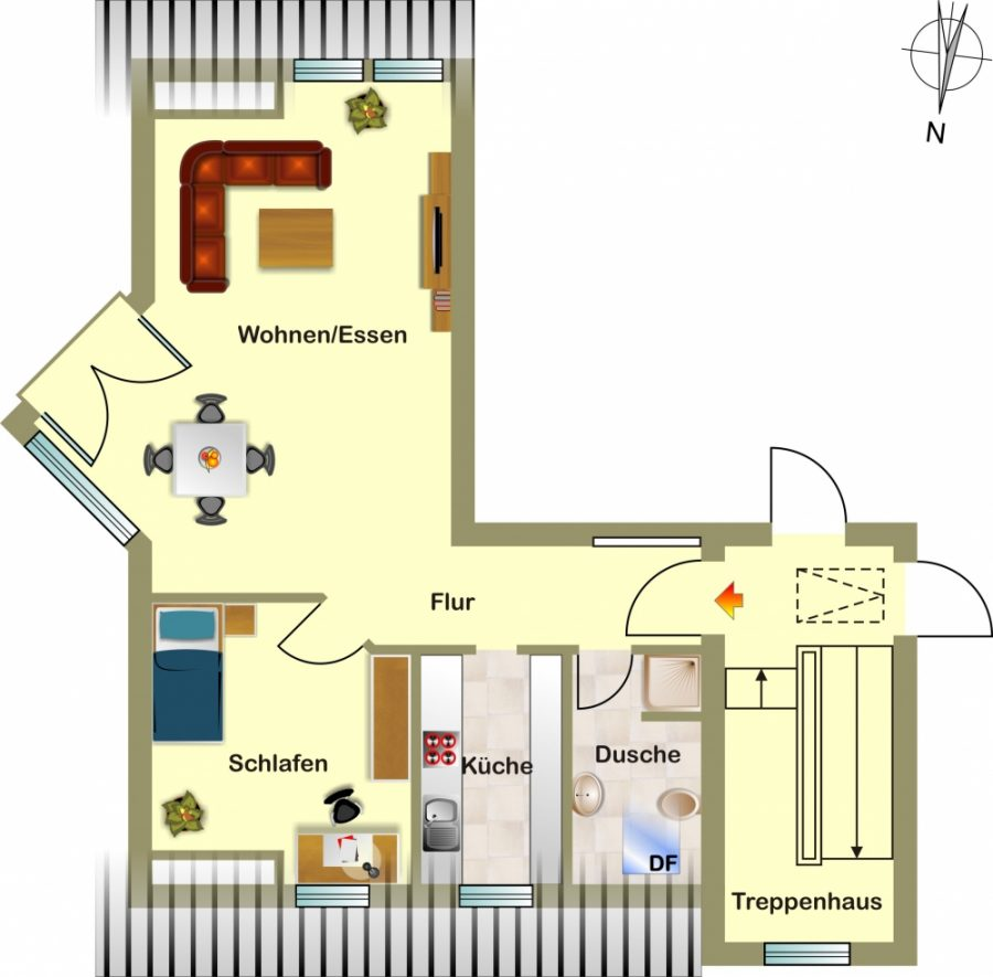2 zimmer wohnung in kleiner wohnanlage zentrumsnah in sittensen immobilienkontor. Black Bedroom Furniture Sets. Home Design Ideas