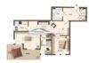 Rotenburg: Frisch renovierte, altersgerechte Wohnung mit Balkon und Traumblick! - Grundriss: Obergeschoss