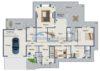 Rotenburg: Repräsentatives Wohnen in einer Erdgeschosswohnung - Grundriss: Erdgeschoss